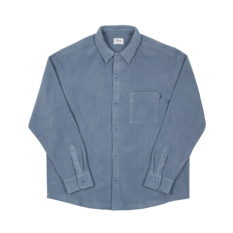 Polar Fleece Button Up Light Blue