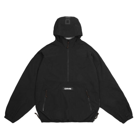 Pullover Hooded Shell Black