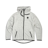 Tech Hooded Fleece White Blue