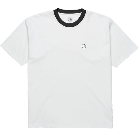 Ringer T-Shirt White Black