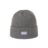 Ribbed Cashmere Beanie Grey