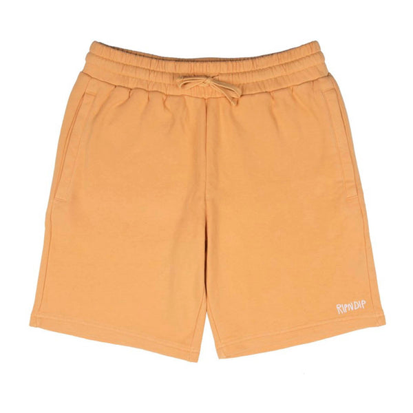Peek A Nermal Over Dye Sweat Shorts Orange