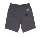 Peek A Nermal Over Dye Sweat Shorts Black