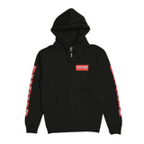 Boxed Logo Zip Black