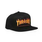 Flame Logo Structured Snapback Black