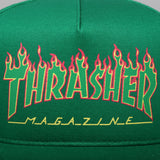 Flame Logo Structured Snapback Green