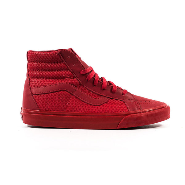 Sk8-Hi Reissue + (Snake Leather) Red