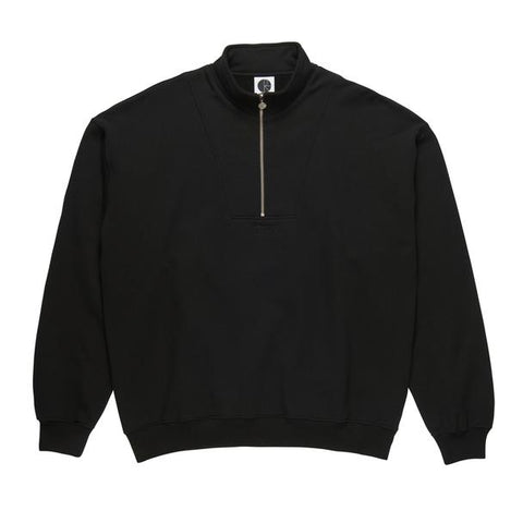 Fleece Pullover Zip Neck Black