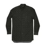 Eight Ft L/S Black Plaid