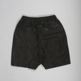 Gabe Leather Short Black Leather