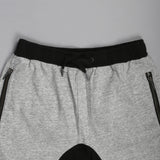Slapshot Zip Shorts Grey Marle Black