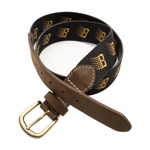B Logo Belt Black