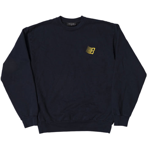 Embroidered B Logo Crewneck Navy