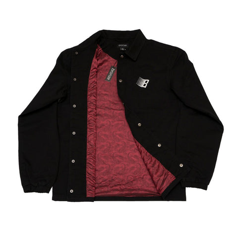 Paisley Coach Jacket Black Red