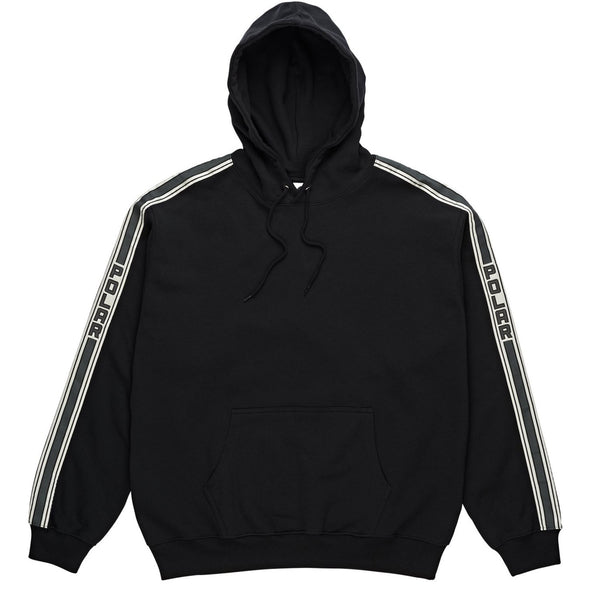 Tape Hooded Fleece Black