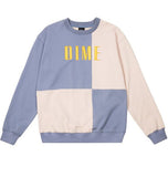 Block Terry Crewneck Light Blue Cream