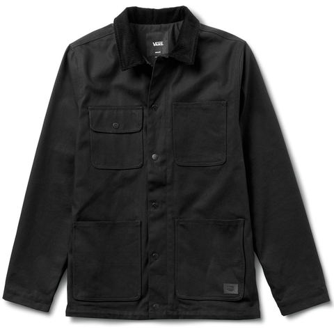 Drill Chore Coat Black