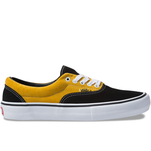 Era Pro Corduroy Black Yolk Yellow
