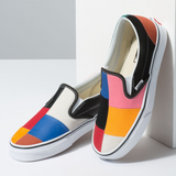 Classic Slip On Patchwork Multi True White