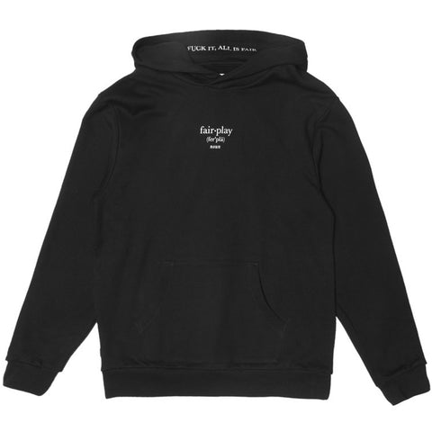 Dunstan Hooded Pullover Black