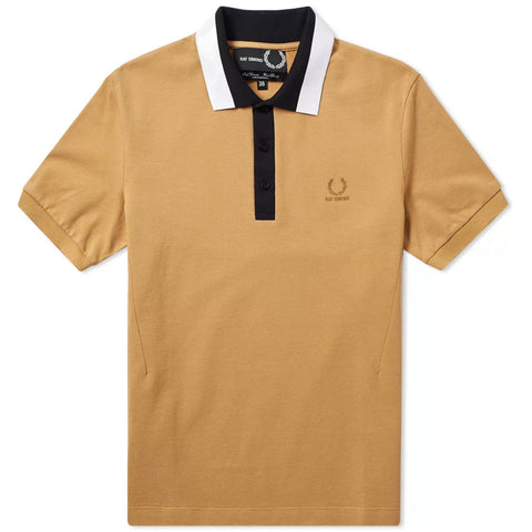 Raf Simons x Fred Perry Tape Collar Pk Shirt Butterscotch