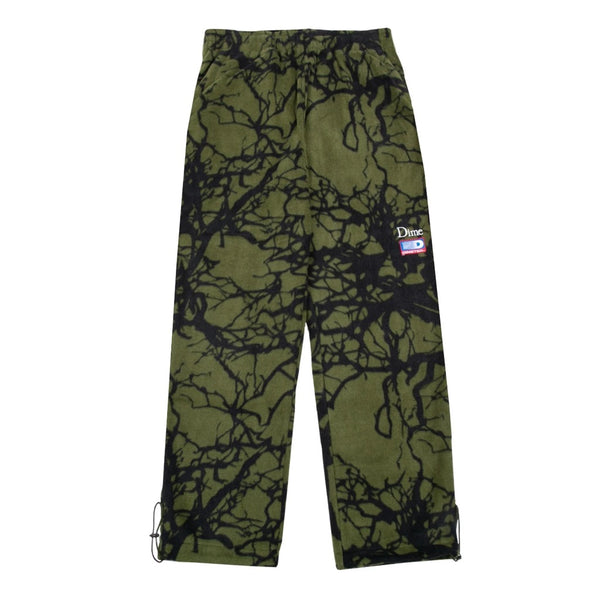 Tree Print Fleece Pants Woodland