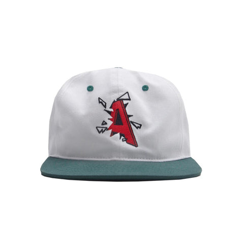 Crash 6 Panel Cap White Forest Grey