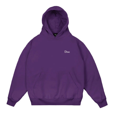 Dime Classic Small Logo Hoodie Purple