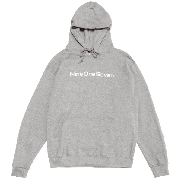 Logotype Hood Pullover Heather Grey