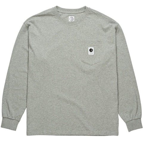 Pocket LS Heather Grey