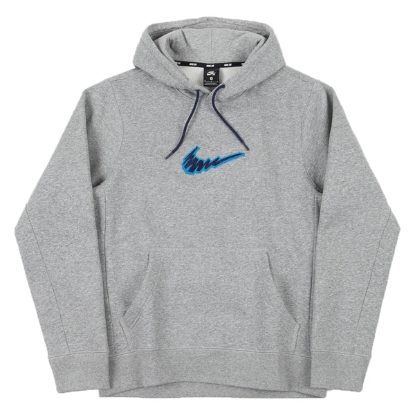 Nike SB Hooded Sweatshirt Dk Grey Heather Laser Blue