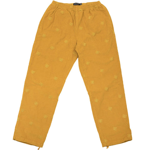 All Over B Logo Embroidered Cords Mustard