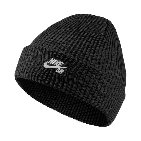 Nike SB Beanie Fisherman Black White