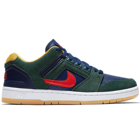 Air Force II Low Midnight Green Habanero Red
