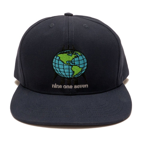 World One Seven Hat Blue