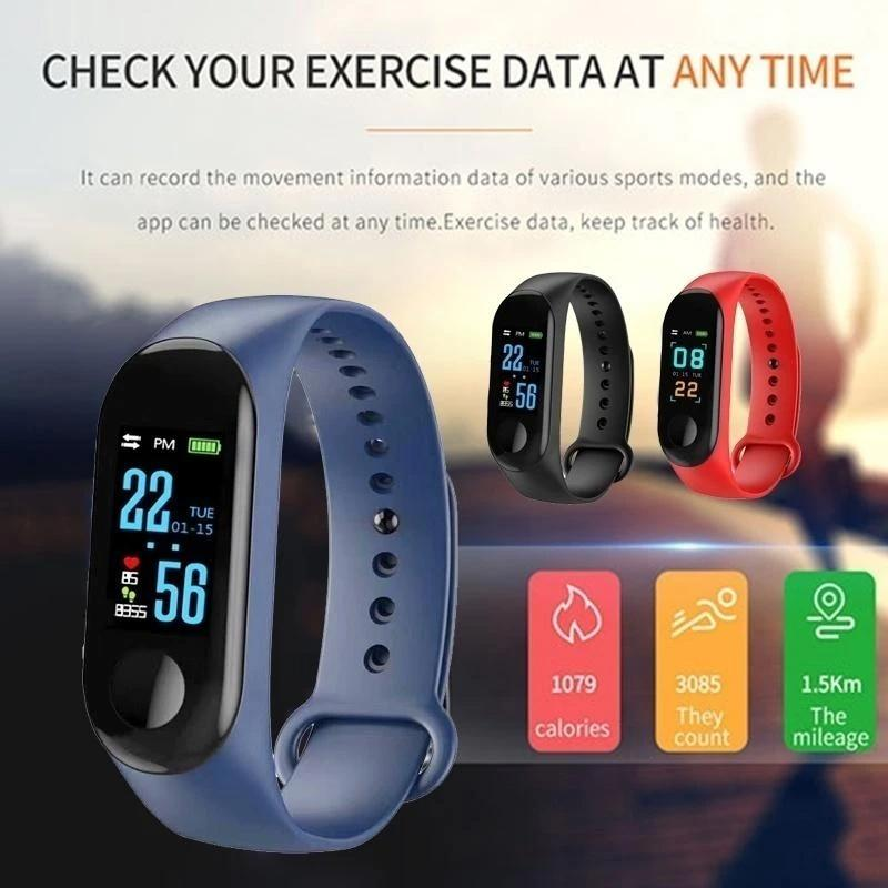 0322 M3 My Life Fitness Band (Black, Standard Size)