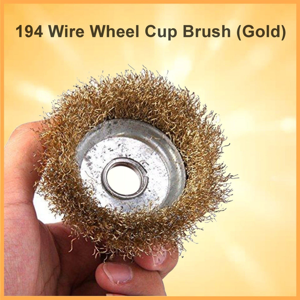 0194 Wire Wheel Cup Brush (Gold)