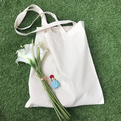 Cotton Canvas White Bag For DIY
