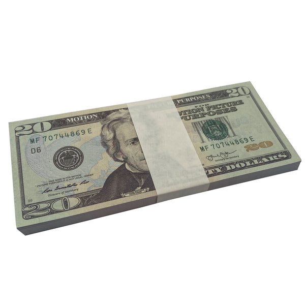 (2,000) 1 Stack $20 Full Print Bills