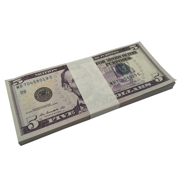 (500) 1 Stack $5 Full Pint Bills