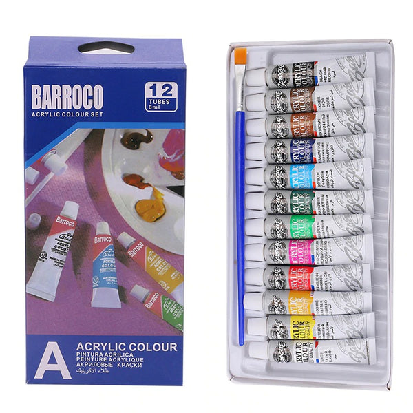 Professional Acrylic 12 Paints Set