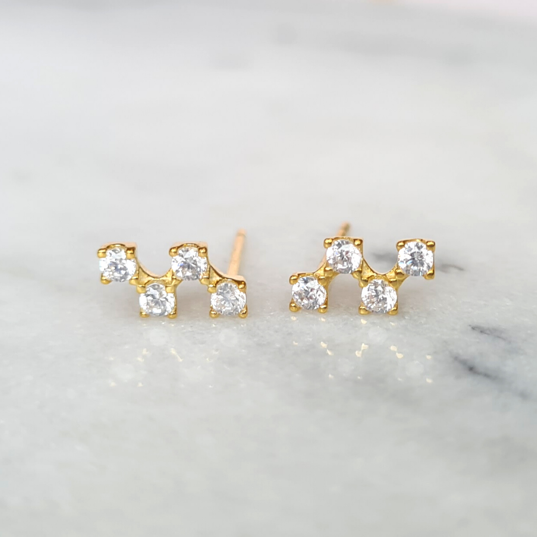 18k Gold Plated Constellation Earrings