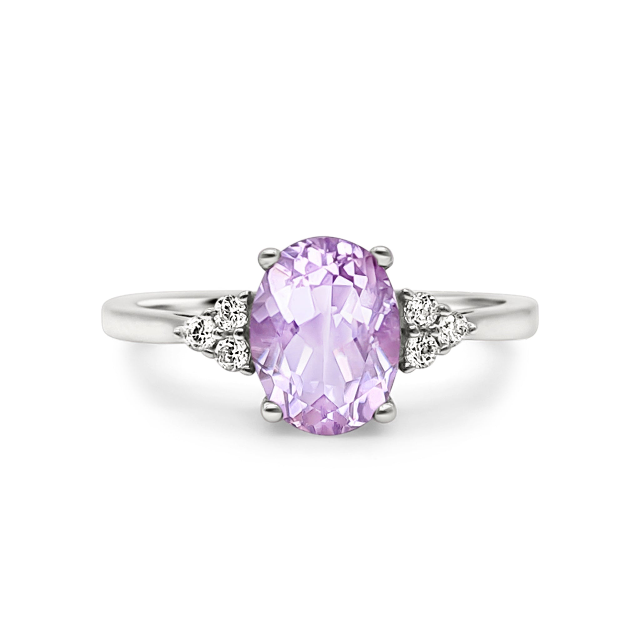 Sterling Silver Lavender Amethyst Ring