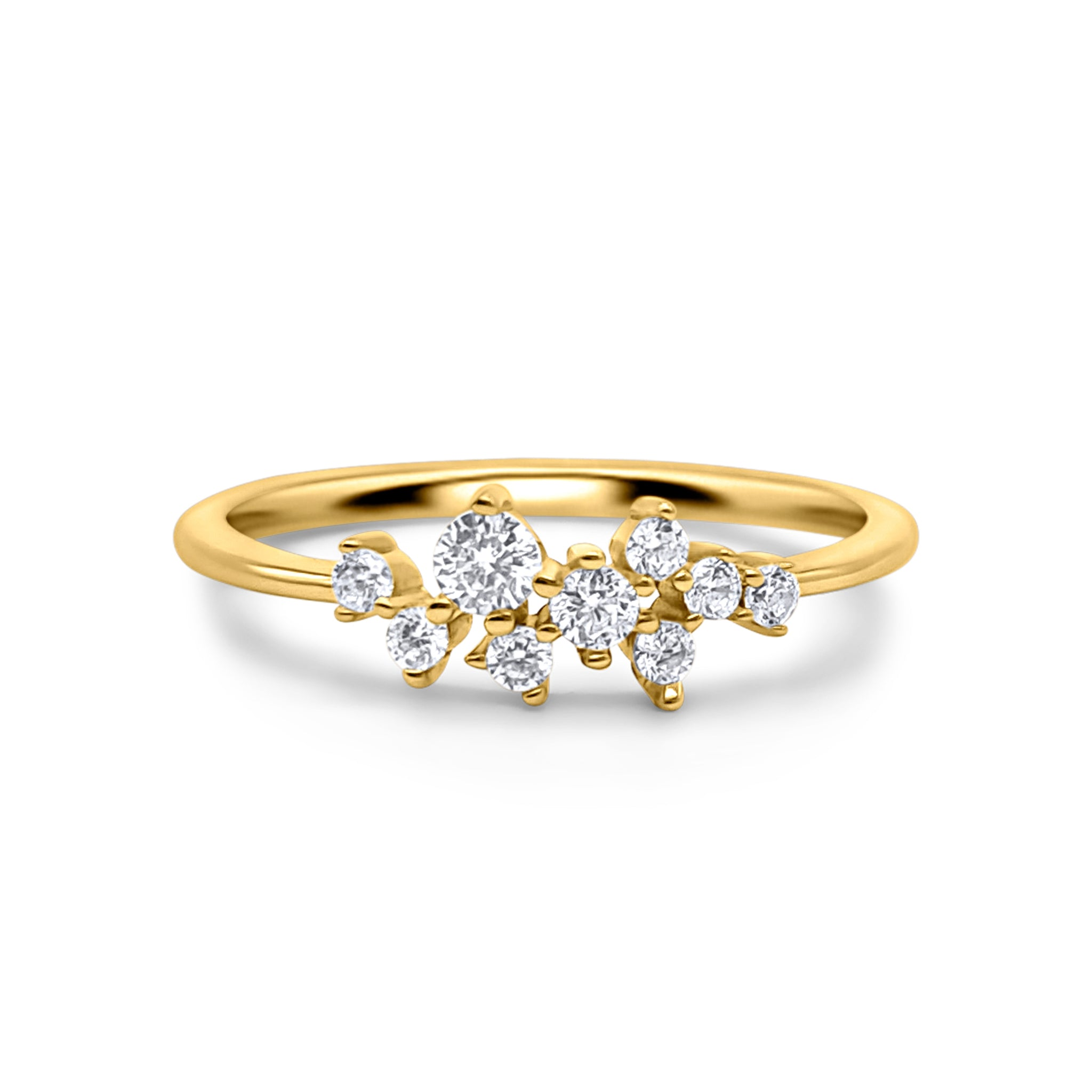 18k Gold Plated Nova Cluster Ring