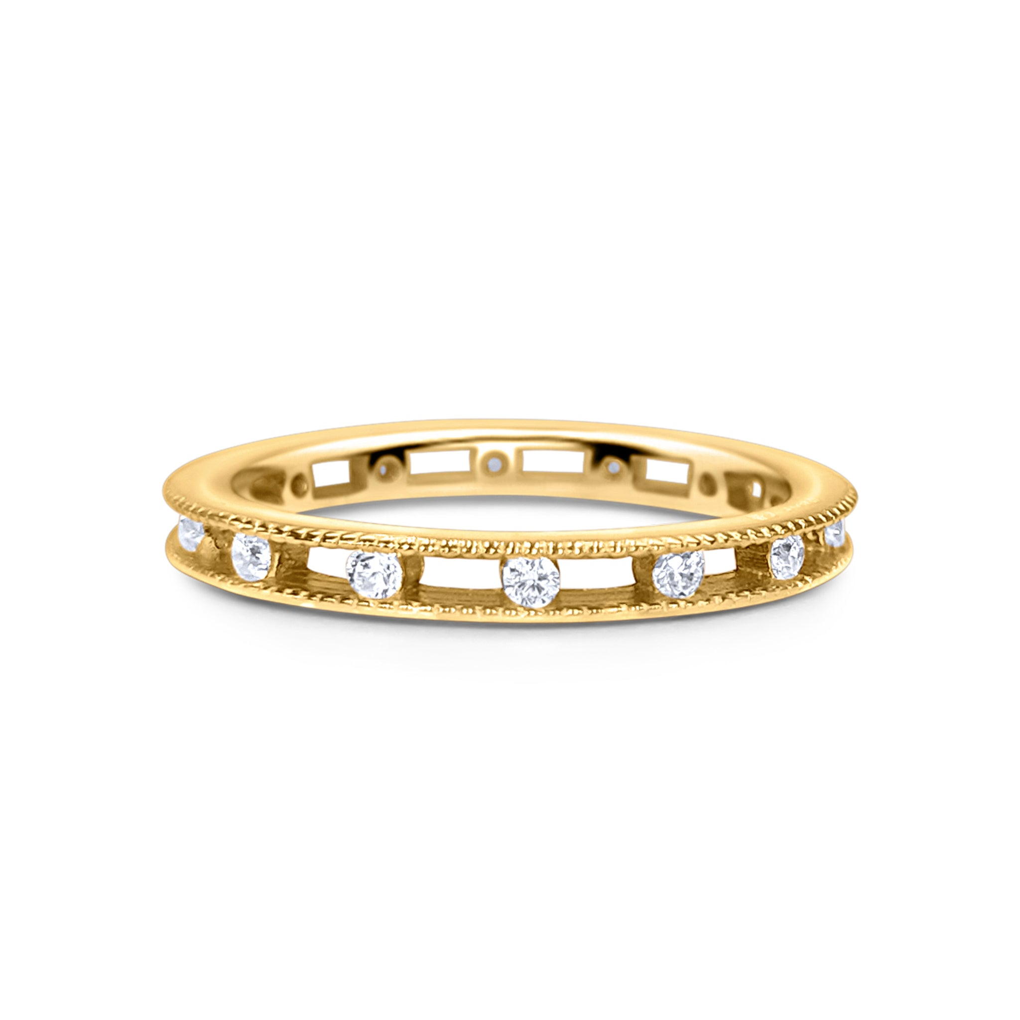 18k Gold Plated Stella Ring (champagne gold)