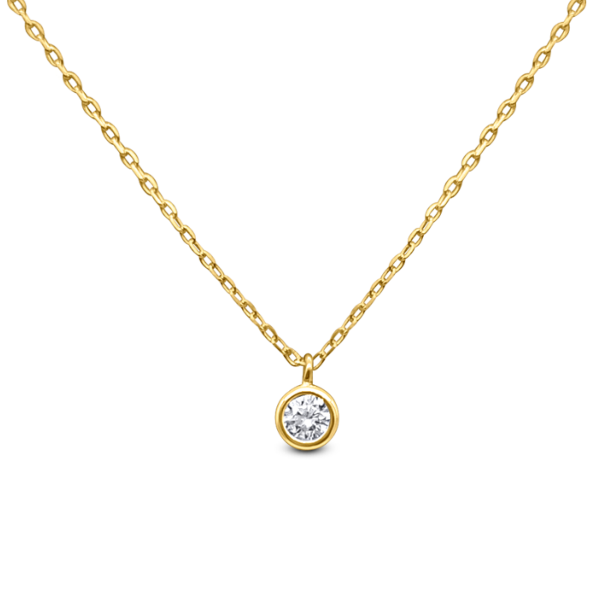 18k Gold Plated Starlight Solitaire Necklace