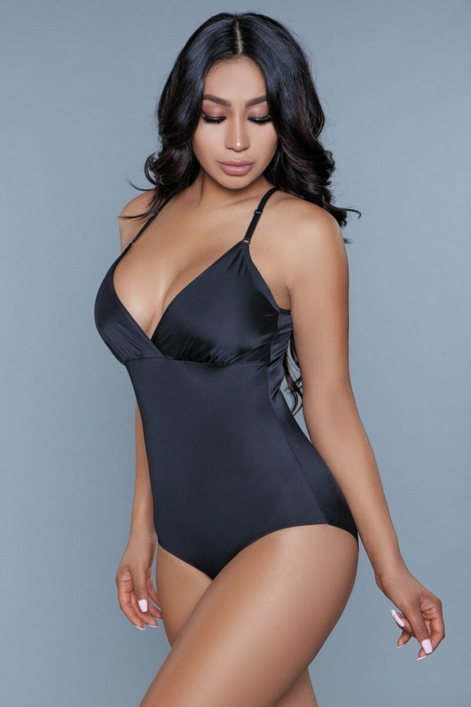 Load image into Gallery viewer, What Waist Shapewear Bodysuit Black