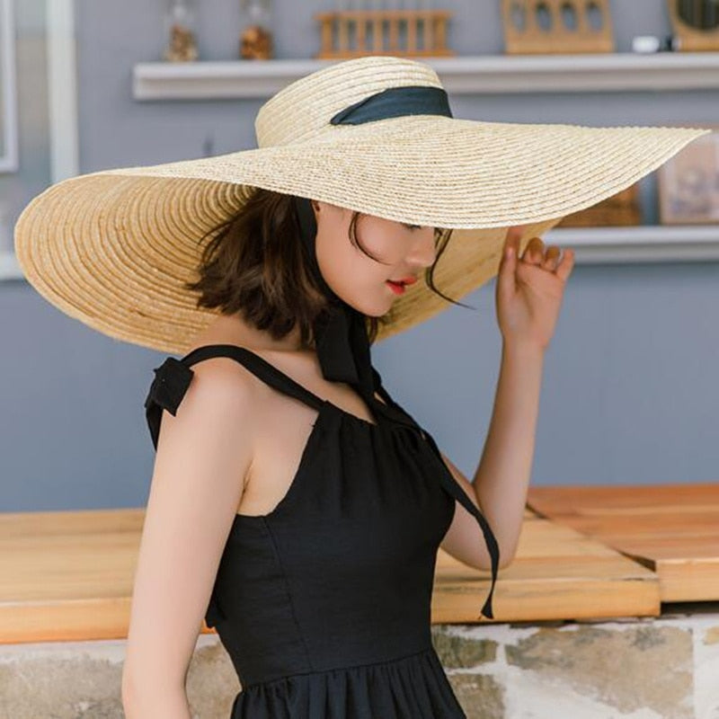 Natural Raffia Straw Hat