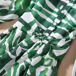 Load image into Gallery viewer, Green Zebra Dress