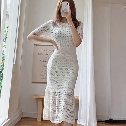 Load image into Gallery viewer, Chic and Elegant Knit Dress